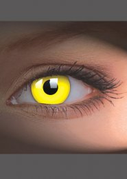 UV Glow Yellow Crazy Eye Lenses 1 Year