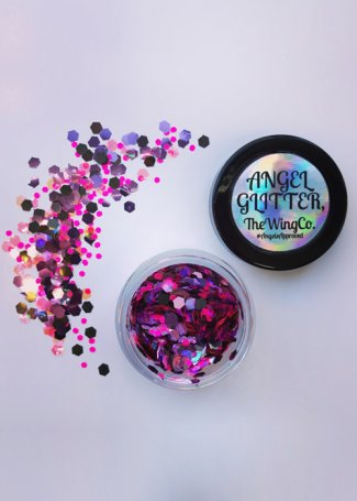 Iridescent Deep Neon Pink & Purple Haze UV Chunky Angel Glitter