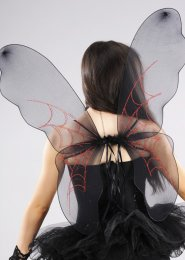Halloween Gothic Black Spider Fairy Wings