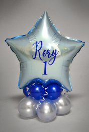 Personalised 1st Birthday Inflated Balloon Table Centrepiece