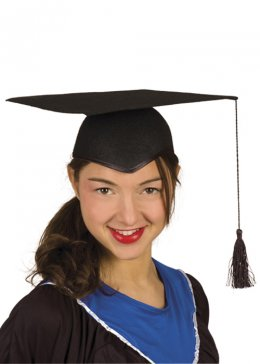 Black Mortar Board Hat Graduate Cap