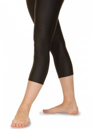 Black Calf Length Lycra Dance Leggings