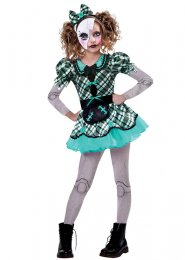 Childrens Size Halloween Gothic Dark Doll Costume