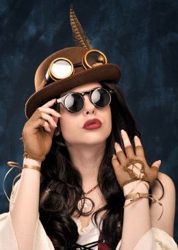 Adult Brown Steampunk Bowler Hat