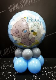 Blue Baby Boy Tatty Teddy Inflated Balloon Table Centrepiece