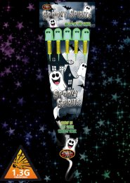 Spooky Spirits Glow in The Dark Rockets Fireworks Pack 5