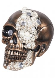 Jewel Encrusted Prop Plastic Fortune Skull Treasure