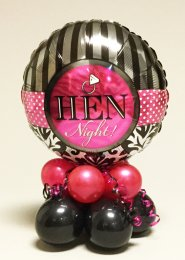 Bright Pink Hen Party Inflated Balloon Table Centrepiece
