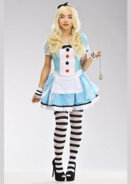Teen Size Clever Wonderland Alice Costume