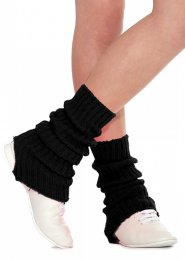 Black Stirrup Dance Leg Warmers 60cm