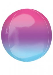 Inflated Purple and Blue Ombre Orbz Helium Balloon
