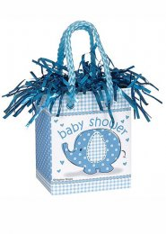 Blue Baby Shower Gift Bag Balloon Weight