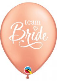 Rose Gold Team Bride Hen Party Balloons Pk5