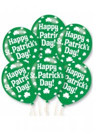 Green St Patricks Day Balloons Pack 6