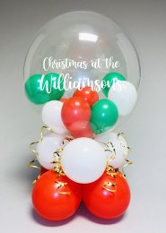 Personalised Christmas Family Bubble Balloon Centrepiece