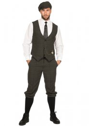 Deluxe 1920s Dark Grey Peaky Blinders Style Costume Kit