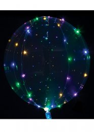 Inflated Light Up Clear Helium Balloon with Coloured LED Lights