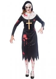 Womens Halloween Zombie Nun Costume