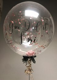 Personalised Rose Gold Confetti Filled Bubble Balloon
