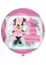 Inflated Pink Minnie Mouse 1st Birthday Orbz Balloon