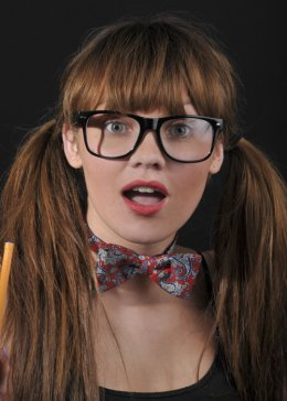 Black Rimmed Nerd Style Fancy Dress Glasses