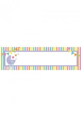 Baby Shower Giant Personalized Banner