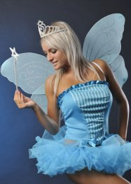 Blue Glitter Butterfly Fairy Wings