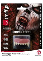 Halloween Deluxe Werewolf Fangs Teeth with Adhesive Putty