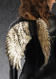 Ladies Leg Avenue Gold Sequin Wings