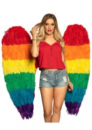 Extra Large Rainbow Feather Angel Wings