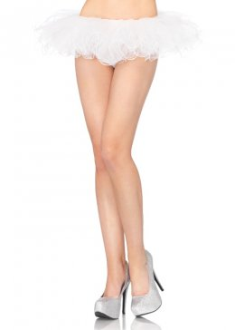 Womens White Ballerina Swirl Edge Tutu Skirt