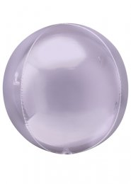 Inflated Pastel Lilac Orbz Sphere Helium Balloon