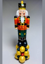 Inflated Christmas Nutcracker Party Balloon Stack Decoration