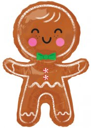 Inflated Gingerbread Man Christmas Helium Balloon