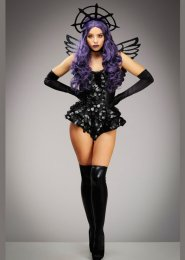 Womens Halloween Gothic Dark Angel Costume