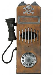 Halloween Haunted Vintage Telephone Prop with Light and Sound