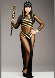 Womens Black Egyptian Goddess Cleopatra Costume