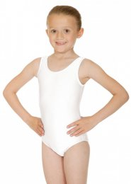 White Joanne Sleeveless Dance Leotard
