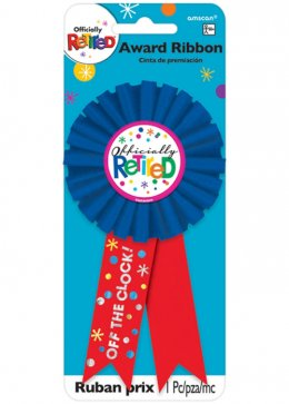 Retirement Party Award Ribbon Rosette Badge