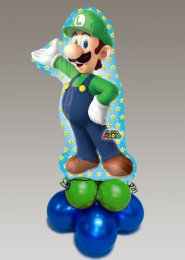 Inflated Large Super Mario Luigi Balloon Centrepiece