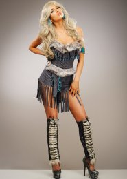 Womens Deluxe Grey Indian Hottie Costume