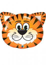 Inflated Large Tiger Shape Helium Balloon