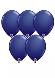 Navy Blue Latex Party Balloons Pack 5