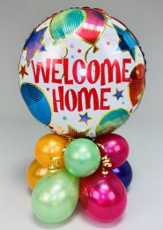 Bright Welcome Home Inflated Balloon Centrepiece