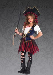 Kids Leg Avenue Caribbean Pirate Girl Costume