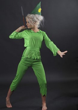 Petite Ladies Green Peter Pan Costume