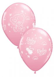 Inflated Pink Tatty Teddy Baby Girl Helium Balloon