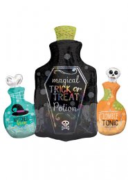 Inflated Halloween Potion Bottles SuperShape Helium Balloon