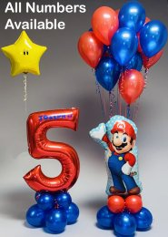 Personalised Super Mario Inflated Balloon Party Set