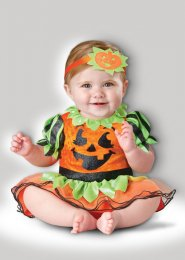 Baby Size Halloween Pumpkin Patch Princess Costume